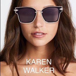 Karen Walker 💙 Rebellion Sunglasses Black & Gold